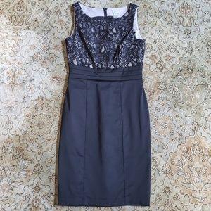 H&M Black Lace Pencil Dress